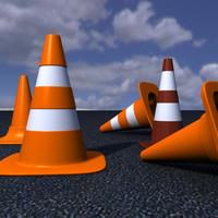 maya conos tráfico cones