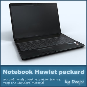 3d model of hp notebook hawlett packard
