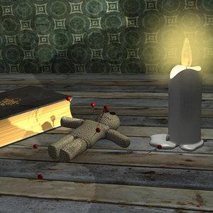 voodoo ritual doll 3d model