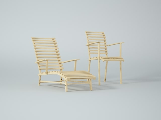 3ds max modern garden lounge chair