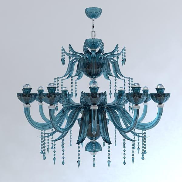 classical chandelier pendant light 3d model