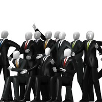 3D business Men in Suits