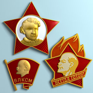 badges soviet youth 3ds