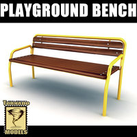 playground bench 3d max