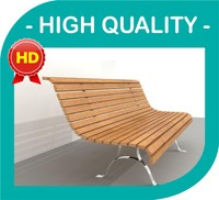 outdoor bench classic design 3ds
