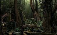 forest scene trees 3d model
