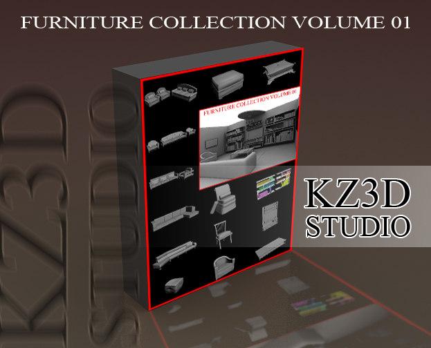 furniture sofa volume 3d 3ds