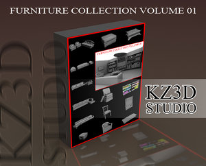 furniture sofa volume 3d 3ds