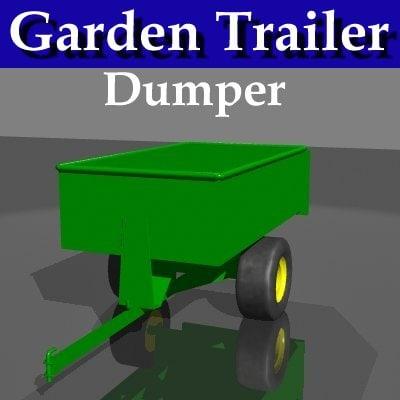 garden trailer dumps 3d model
