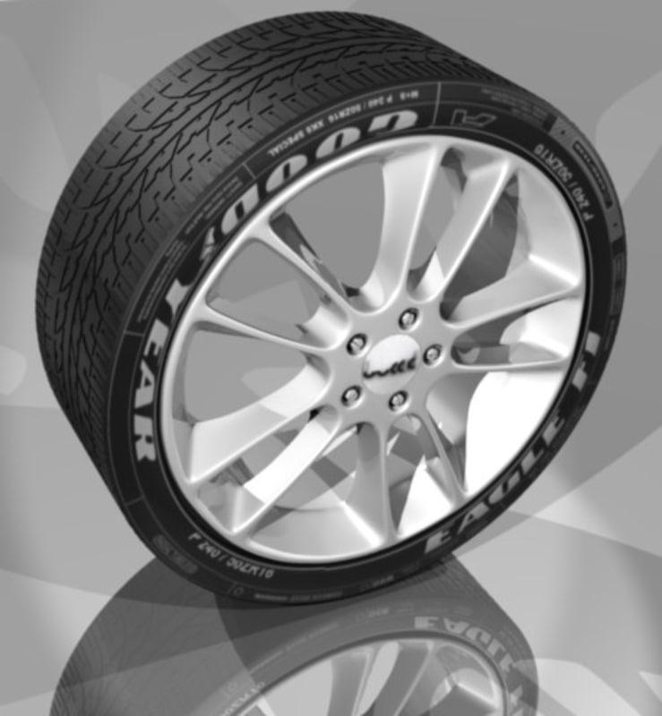 wheel rim 3d blend