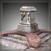 stone pedestal 3d model