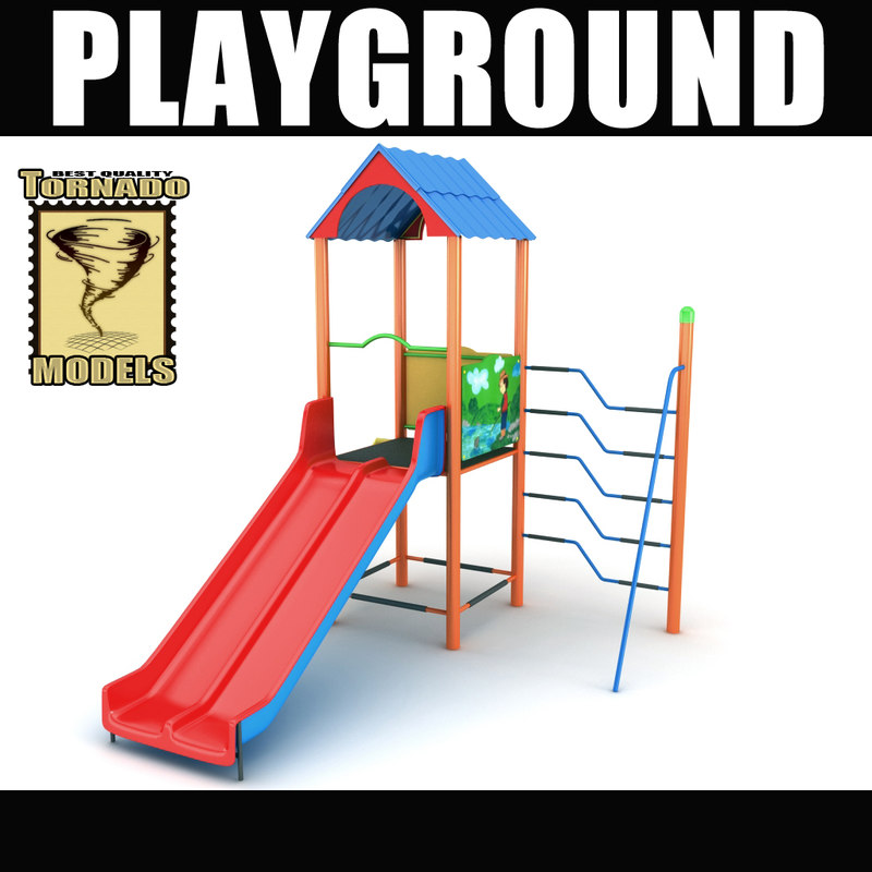 3d playground ground model