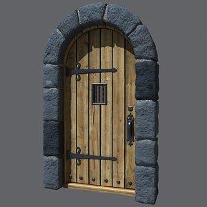 3d castle door