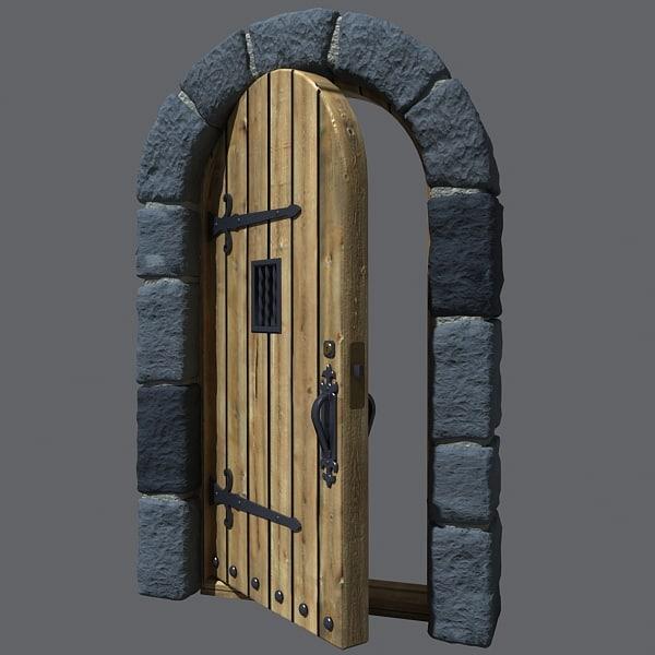 3d castle door & castle door
