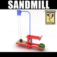 playground sand 3d model