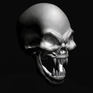 vampire skull 3d model