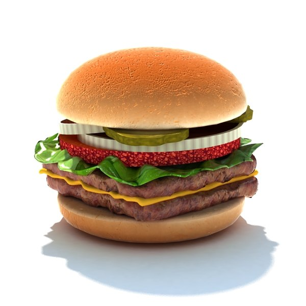 double junior cheeseburger deluxe 3d model