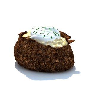 3d sour cream chives potato