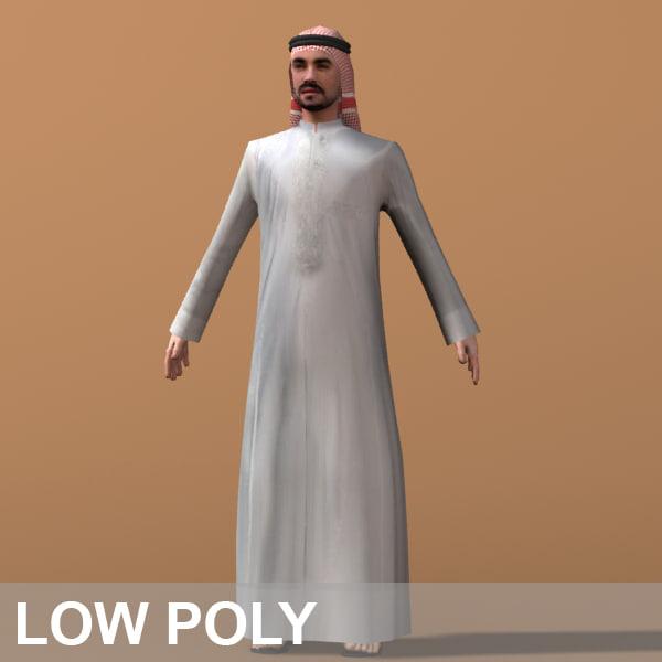 3d arab man character model