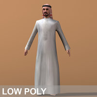 3d arab man character model