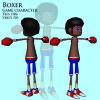 3d boxer guy model