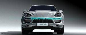 3d porsche cayenne hybrid model
