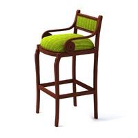 3d chair bar barchair