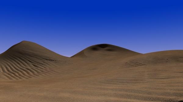 dune scene desert sand 3d model