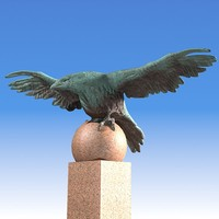 eagle statue wing pediment