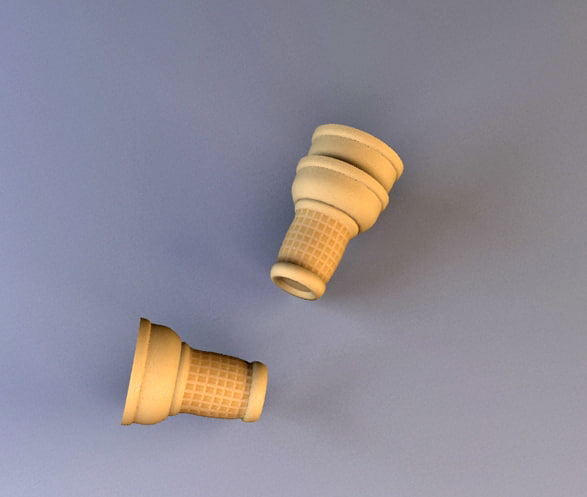 3d ice cream model