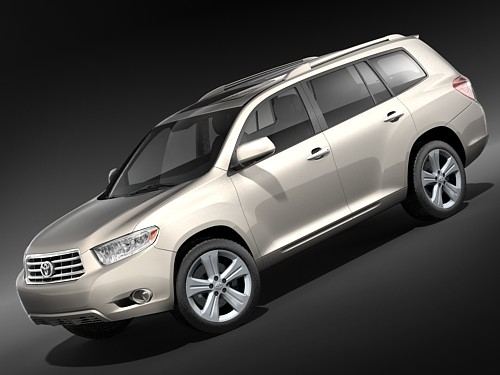 toyota highlander 3d model