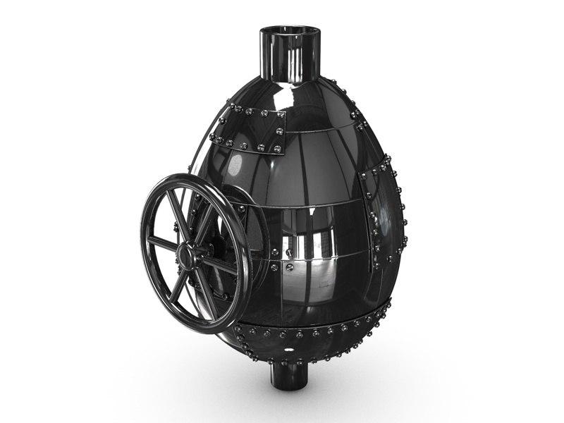 metal egg ventile 3d model