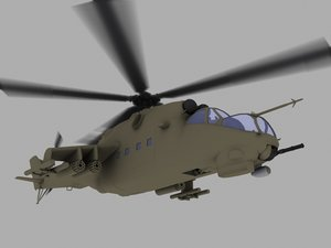 mil hind mi-24v 3d model