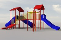3d model jungle gym monkey bars