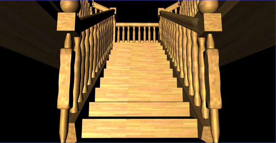 staircase second floor 3d model