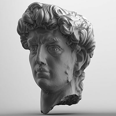 3d model scan data stone head