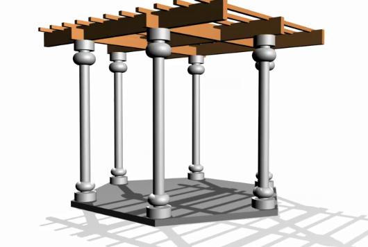 pergola design 3d model