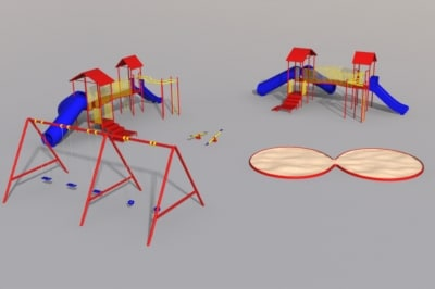 3d playground jungle gym model