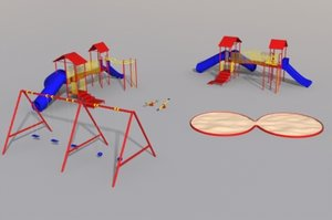 3d playground jungle gym model