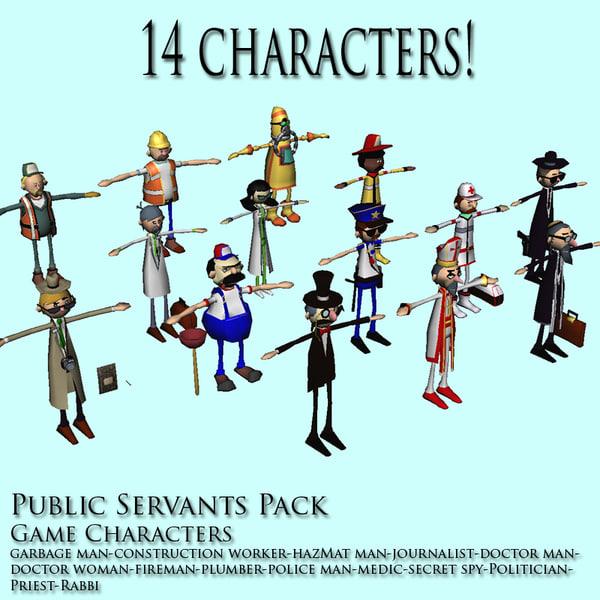 3d civil servants model