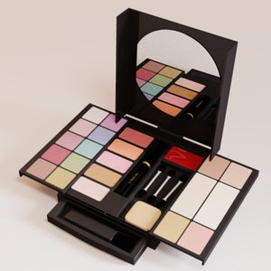 makeup kit 3d model