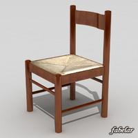 3d model chair standard