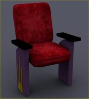 3d theater chairs model