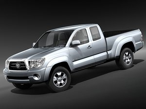 toyota tacoma cab pickup 3ds