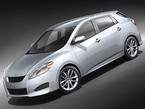 toyota matrix car 3d model