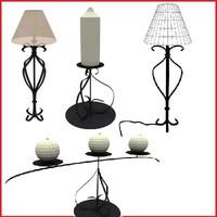 set lamp candle 3d model