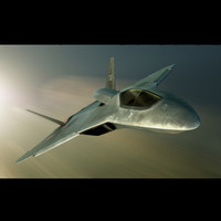 concept russian fighter 3d model