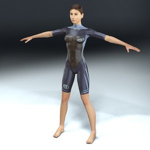3ds character wetsuit