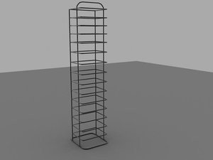 wire-frame stand metal 3d model