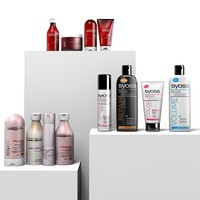 Barber`s hairdresser beauty salon shampoo conditioner hair care product bottle